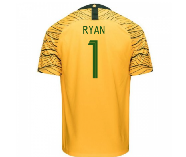 Australia National Team Nike 2018 Home Jersey (Ryan 1)