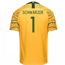 Australia National Team Nike 2018 Home Jersey (Schwarzer 1)