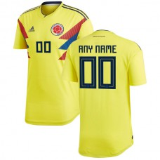 Colombia National Team adidas 2018 World Cup Home Custom Jersey