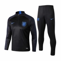 England Stripe Black Training Soccer Tracksuit 2018/19 - Kids
