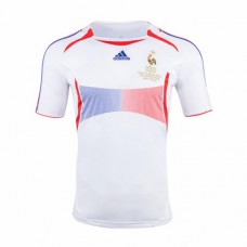 France Away White Retro Jersey 2006