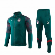 Italy Green Casual Presentation Soccer Tracksuit 2019 2020