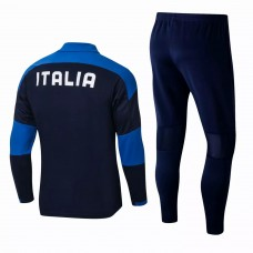 Italy National Team Football Training Technical Tracksuit Navy 2021 2022