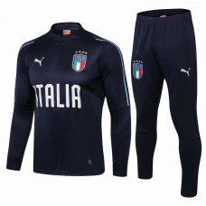 Italy Navy Technical Training Soccer Tracksuit 2018/19 - Puma
