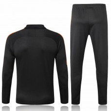 Netherlands Black Training Technical Soccer Tracksuit 2018/19