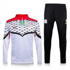 Palestine White Training Technical Soccer Tracksuit 2016/17
