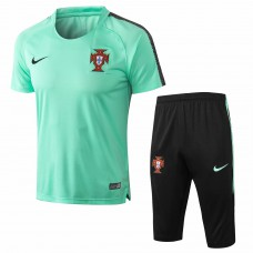 Portugal Team Short Green Tech Training Soccer Tracksuit 2018/19