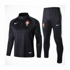 Portugal Team Black Tech Training Soccer Tracksuit 2018/19 - Kids