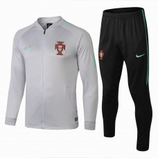 Portugal Team White Presentation Training Soccer Tracksuit 2018/19