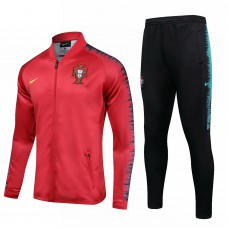 Portugal Team Red Presentation Training Soccer Tracksuit 2018/19