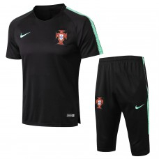 Portugal Team Short Black Tech Training Soccer Tracksuit 2018/19