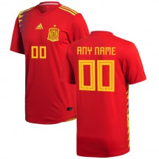 Spain 2018 Home Authentic Custom Jersey