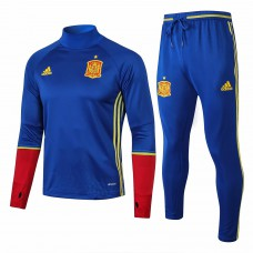 Spain Training Technical Soccer Tracksuit Euro 2016 Blue